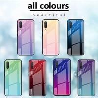 다채로운 강화 유리 케이스, 샤오미 레드미 노트 8T 8 7 6 프로 9s 9A 9 프로 7A 6A 플러스 레드 미 노트 10 7 8 프로용 다채로운 케이스