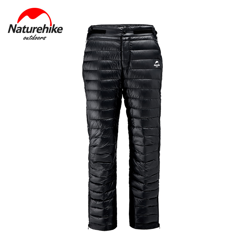 Naturehike Goose Down Thickening Pants 700+FP 20D Waterproof 95% White Goose Down Outdoors Bilateral Zipper Keep Warm Skiing