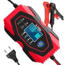 12v 6a carregador de bateria de carro automático completo com display lcd digital power puls reparação carregadores para lítio, chumbo ácido, lifep04