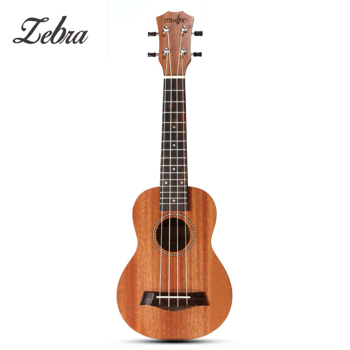 Zebra 21''Ukulele 15 Frets Mahogany Concert Ukulele 4 Strings Rosewood Fingerboard Guitar For Stringed Musical Instruments