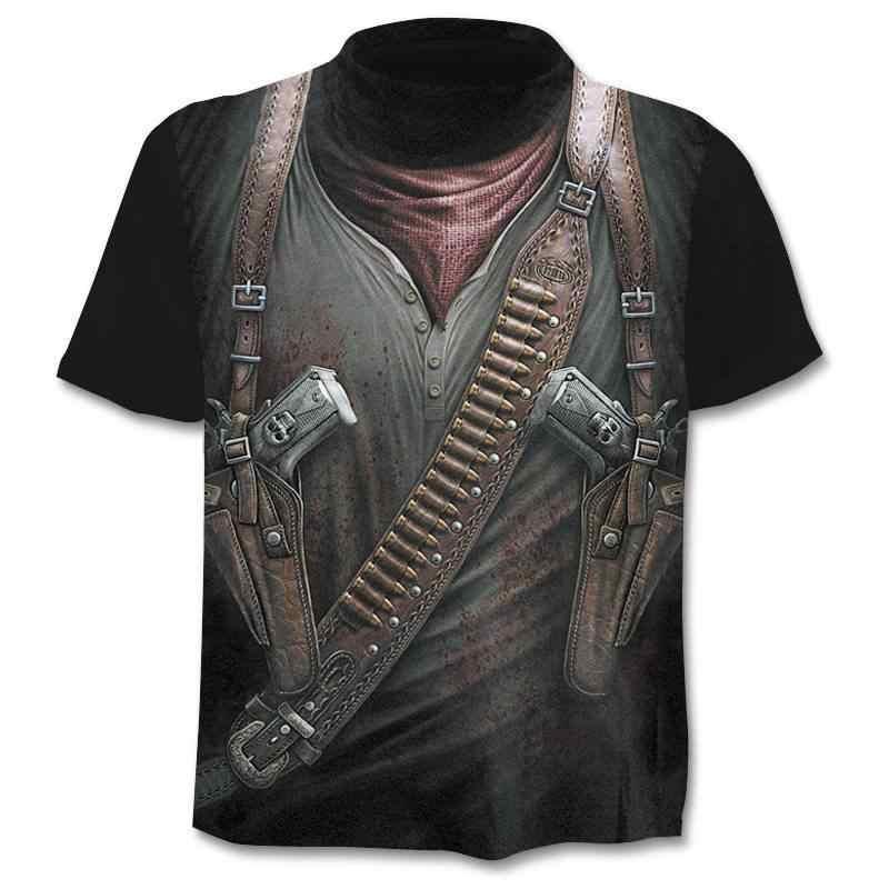 2020 メンズスカル tシャツパンクスタイルスカル 3Dt-シャツ男性はヒップホップ 3d プリント skull パニッシャー tシャツ
