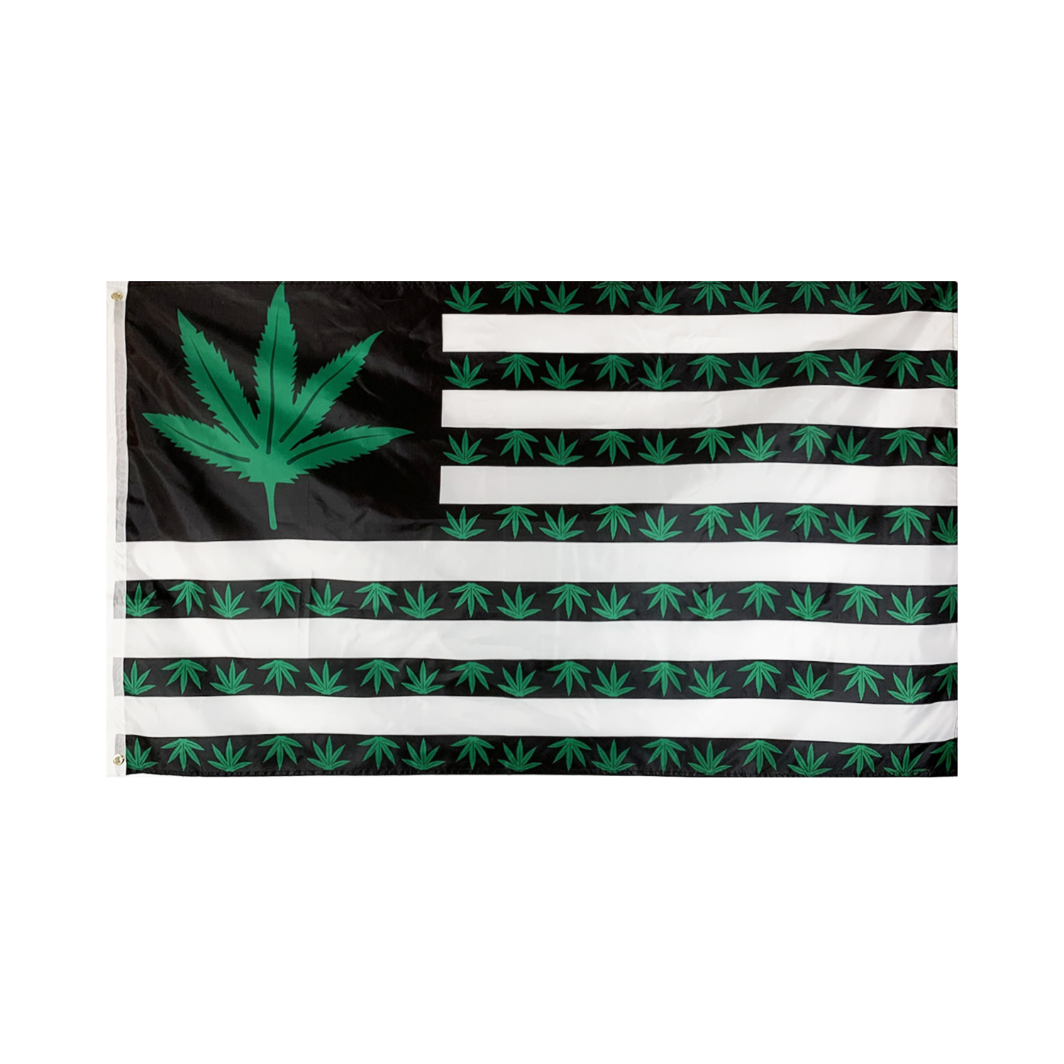 Flagnshow 90x150cm 3x5ft Green American Leaf Weed Flags and Banners America Flag for Rooms Decoration