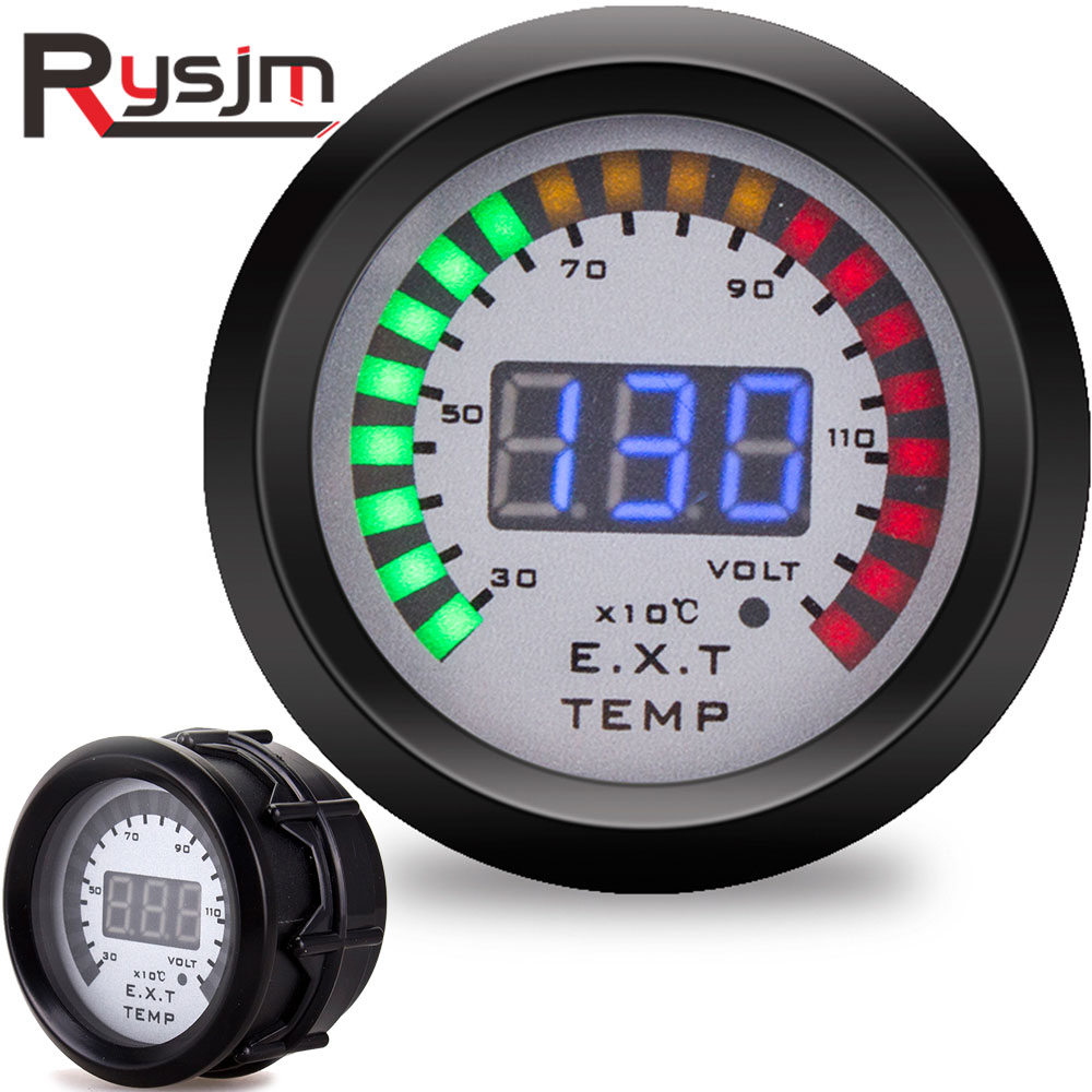 "2/"" 52mm 7 Color Digital LED Display Exhaust Gas Temp Gauge EGT Meter Car AUTO"