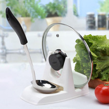 Spoon Pot Lid Shelf Cooking Storage  Stand Holder