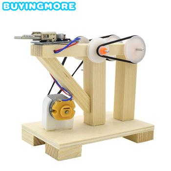 DIY montaż zabawek ręczne zestawy modeli generatorów drewniane zabawki edukacyjne dla dzieci wynalazek nauka eksperyment fizyczny Dynamo zabawka prezent tanie i dobre opinie BUYINGMORE CN (pochodzenie) WOOD Other Inedible Keep Away From Fire Sport 6 lat BM-SY-SYFD Unisex DIY Manual Generator