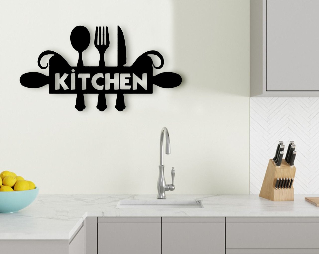 BK Home Kitchen Wood Wall Decoration Modern Convenient Reliable Decoration Gift Quality Design Simple Cool Black Color