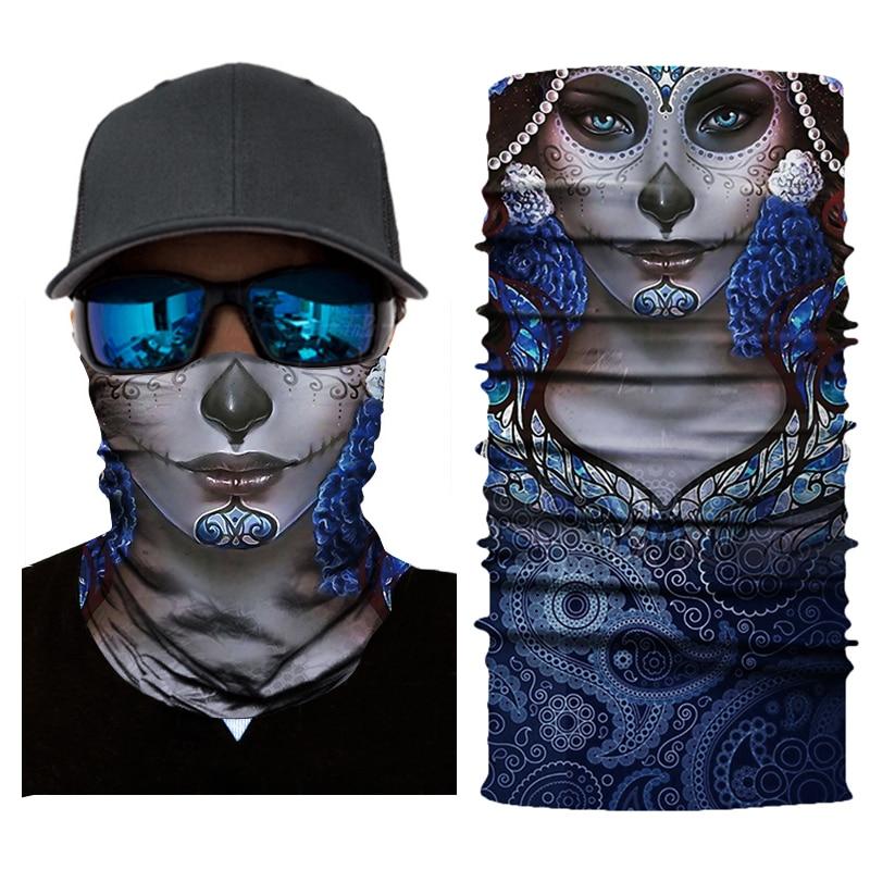 Motorcycle Face Mask Balaclava Biker Scary Masque Face Shield Unisex Mask Skull Mascarilla Riding Bandanas Mascara Moto