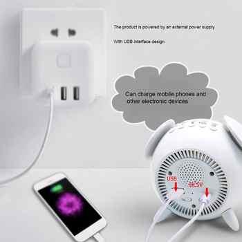 2020 LED Night Desk Light USB Charging Bed Room Motion Sensor Table Lamp With Time Alarm Clock For Children Moon Lamp