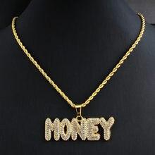 Męski hip hop ice out bling list raper naszyjnik pavé ustawienie AAA rhinestone moda 69 naszyjnik hip hop biżuteria prezent