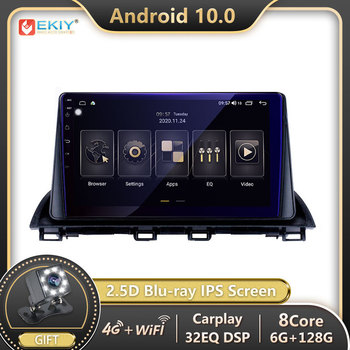 EKIY 1280*720P Blu-ray IPS DSP Android 10 For Mazda 3 Axela 2013-2018 Car Radio Multimedia Player Navigation BT GPS Stereo 2 din image