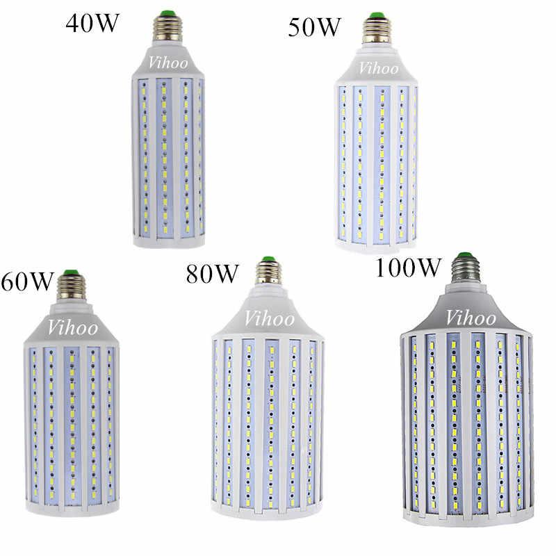 40W 50W 60W 80W 100W הנורה E27 E26 B22 E39 E40 תאורת אור מקורה מחסן דשא שמש AC 85-265v led מנורת lanterna SMD 5730