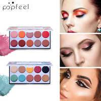 POPFEEL 10 Color Matte Eye Shadow Palettes Natural Makeup Set Waterproof Lasting-Effect Glitter Eyeshadow Powder Pallete Sexy