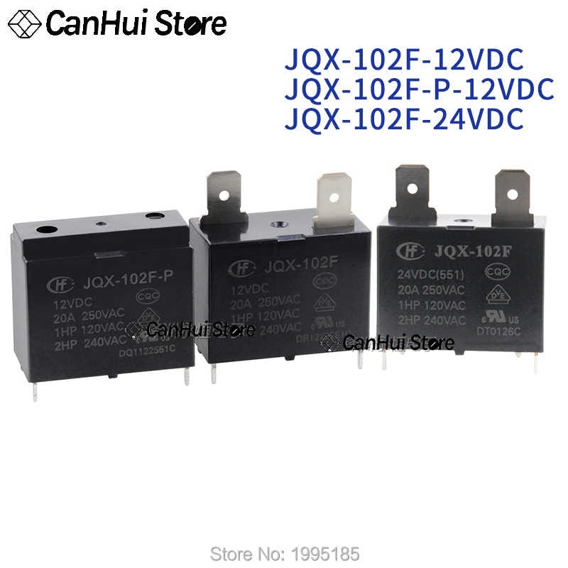 1 Pcs New Hongfa Miniature High Power Relay JQX-102F 12VDC