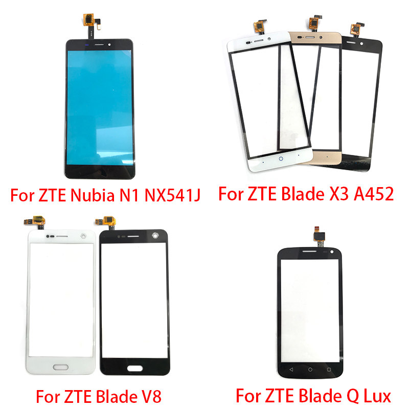 New For ZTE Blade AF3 V8 X3 Blade D2 T620 A452 Nubia N1 NX541J Q Lux Touch Screen With Digitizer Glass Lens Panel Front Outer