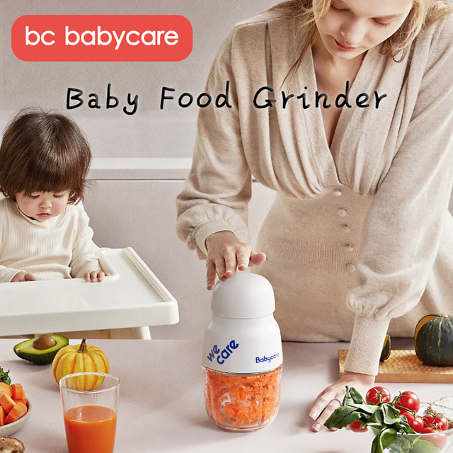BC Babycare Mini Baby Feeding Food Maker Supplement Meat Grinder Vegetable Fruit Chopper Crusher Newborn Food Blenders Processor