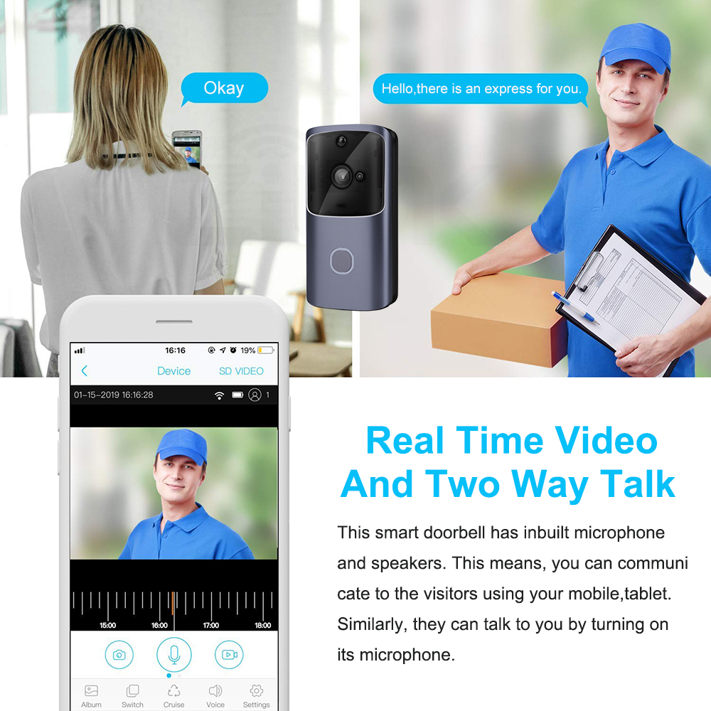 ZILNK Smart Wireless Home Doorbell with Video Monitoring and Remote Control 3