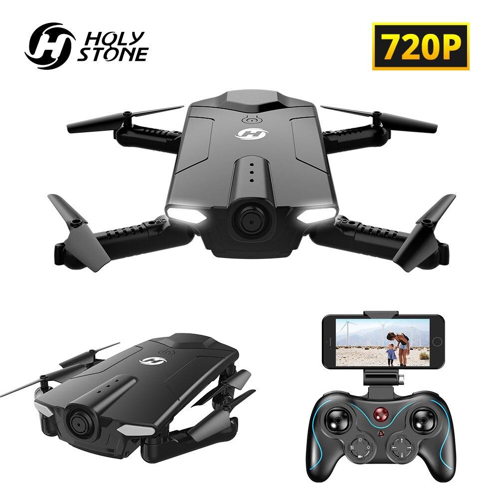 Pedra sagrada HS160 Zangão RC com Câmera HD WI-FI 720P FPV Quadcopter Quadrocopter Com Câmera 3.7v Bateria Para criança Dobrável Adulto
