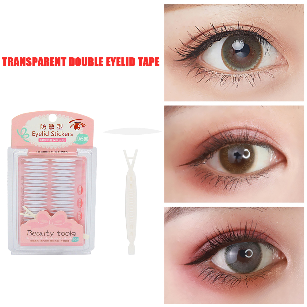 96pcs Self Adhesive Eyelid Stickers Practical Comfortable Multi-functional Transparent Eyes Tape Paste for Casual Party