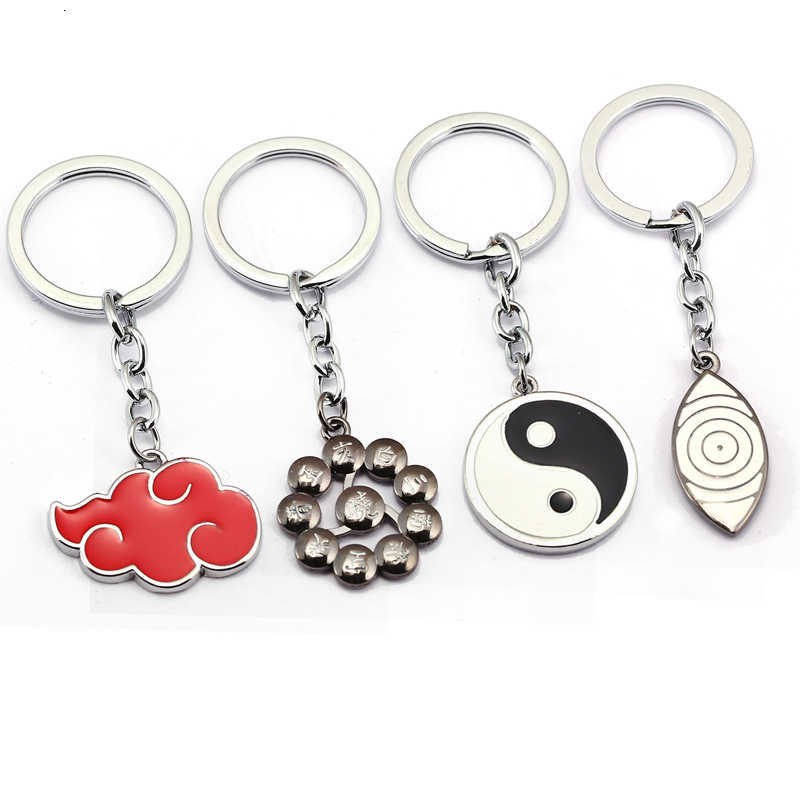 Heißer Verkauf Naruto Keychain Kakashi Cosplay Uchiha Sasuke Zubehör Spielzeug Requisiten Itachi Akatsuki Madara Requisiten Naruto Schlüssel Schnalle