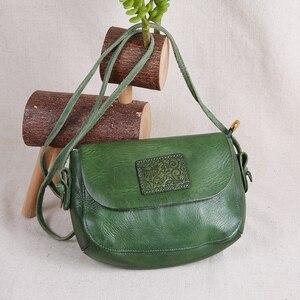 Image 3 - AETOO oryginalne torebki ze skóry ręcznie robione mini torebka sztuka ze skóry proste ramię retro kobiety Messenger mała torba kwadratowa
