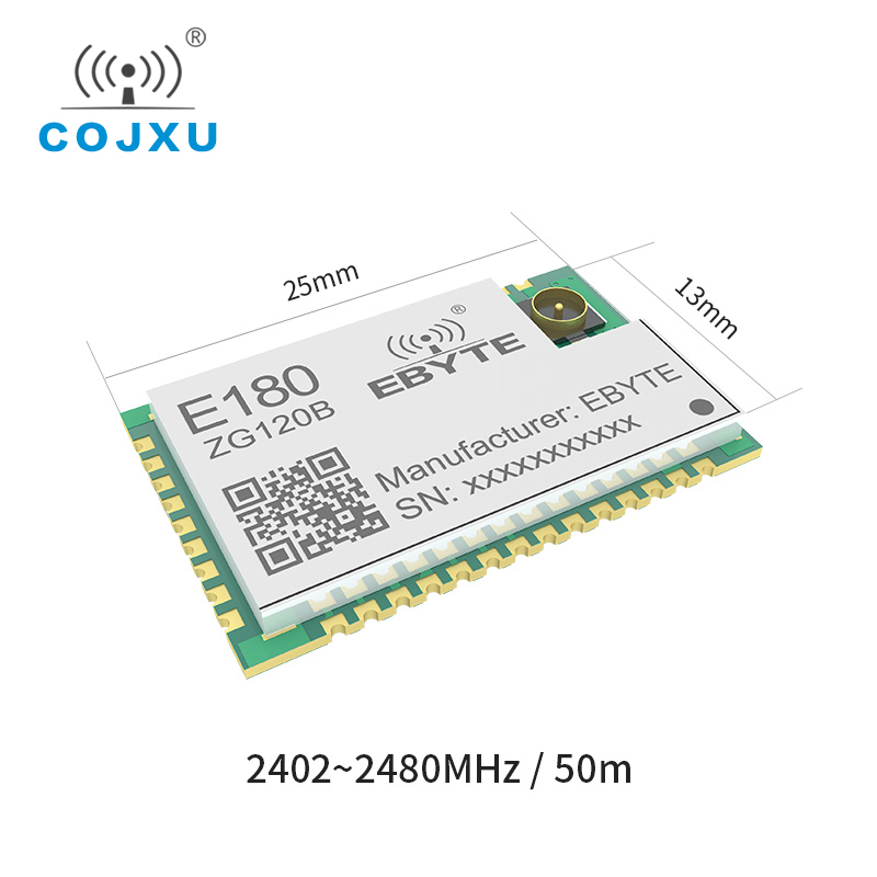 ZigBee 3.0 EFR32  SMD IoT Stamp Hole IPEX E180-ZG120B Wireless Transceiver Module Smart Home Networking Low Power Transmitter
