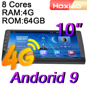 4G 8 cores Android 9.0 2 Din Car Radio multimedia video player 10 inch RAM 4G ROM 64G navigation GPS audio 2din Android 8.1