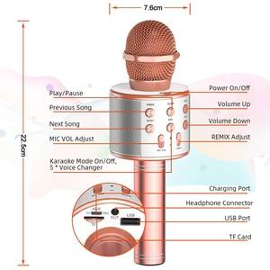 Image 2 - Microphone Wireless Bluetooth Karaoke Microphone Professiona Speaker Handheld Microfone Player Singing Recorder Mic microfono