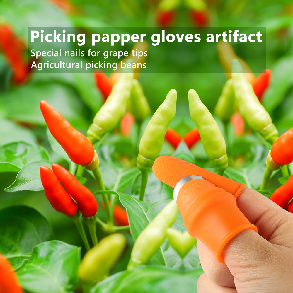 Silicone Thumb Knife Finger Protector Plucking Device for Cutting Vegetable Agricultural Tool Kit Finger Guard Protect Finger 5