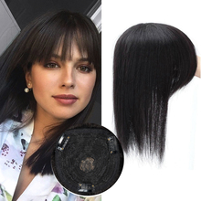 Topper Wig Hairpiece 12x12 Remy Natural Women Lace-Base Brown with Clip-In for 6-8-10-12-14-