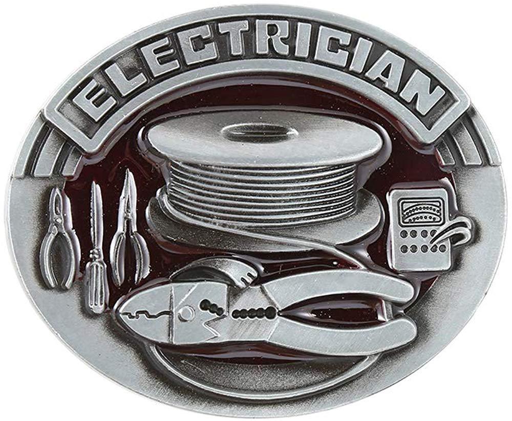 Oval Shape Red Electrician  Belt  Buckle For Woman Western Cowboy Buckle Without Belt Custom Alloy Width 4cm