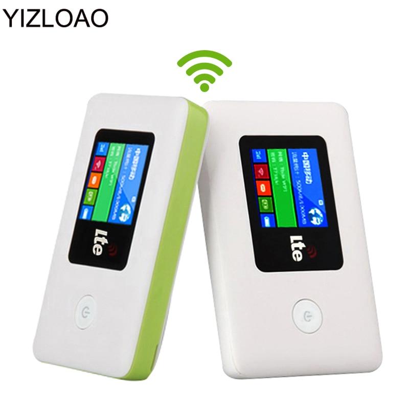 YIZLOAO 4G/3G Wifi Router Mobile Hotspot Pocket/Car/Battery Router Wifi Modem 4G/3G Broadband PK ZTE/Xiaomi/Huawei Router