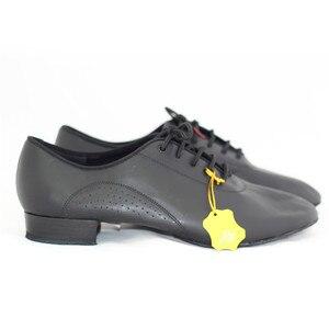 Image 5 - ชายมาตรฐานเต้นรำรองเท้าBD 309 บอลรูมเต้นรำรองเท้าหนังนุ่มDancesportแยกSoleโมเดิร์นสีดำรองเท้าNappedหนังSole