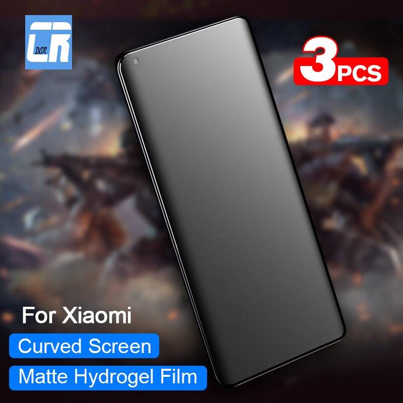 3PCS 100D Matte Hydrogel Film For Xiaomi Note 10 CC9 9T Pro A3 A2 Full Curved Screen Protector For Xiaomi 9 Lite 9 SE Soft Film