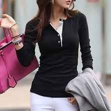 T-shirt manches longues pour Femme, coupe ajustée, Baggy, boutons