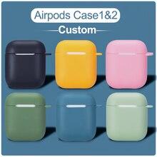 ل Airpods لتقوم بها بنفسك حافظة اسم مخصص لينة سيليكون اللاسلكية سماعة شحن غطاء ل AirPods برو لطيف صندوق بلوتوث سماعة coque
