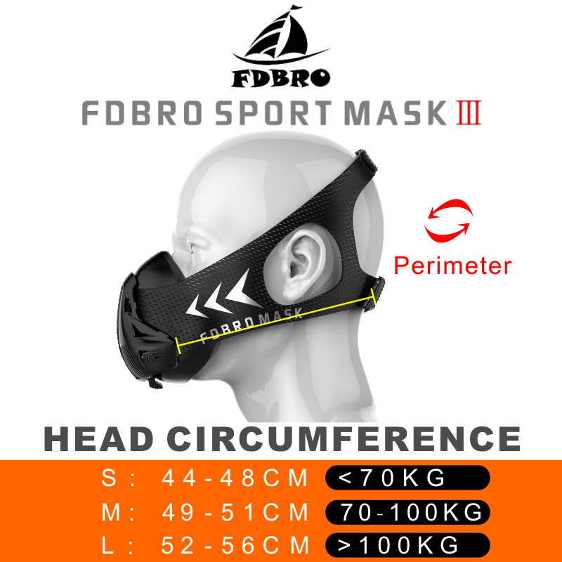 FDBRO Sports Masks 2.0 Phantom Training Elevation Cycling Masks Running Cardio High Altitude Protective Breathing Trainer Filter 5