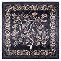 2021 роскошный брендовый Модный женский шарф 90 см * 90 см богемный принт в форме дерева кешью мисс Универсальный шелковый шарф нагрудник