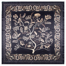 2021 marca de luxo moda senhora cachecol 90cm * 90cm boêmio impresso árvore em forma de caju miss all-match lenço de seda babador