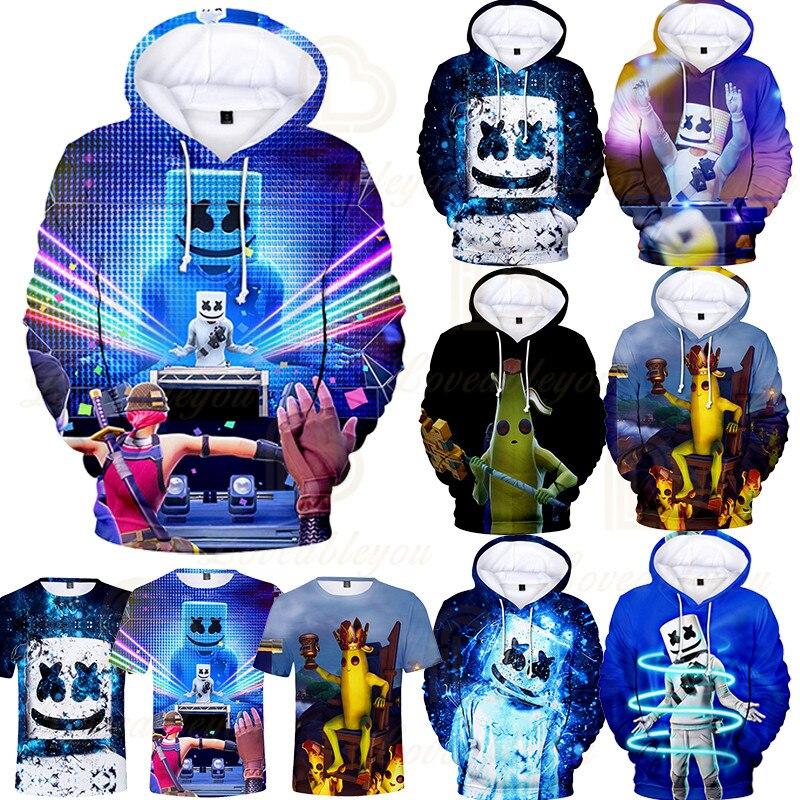 3 To 14 Years Kids Hoodies Game 3D Printed Music DJ Hoodie Sweatshirt Boys Girls Harajuku Cartoon Jacket Tops Teen Clothes 1