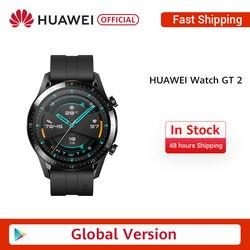 Stokta küresel sürüm HUAWEI izle GT 2 GT2 GPS 14 gün çalışma su geçirmez telefon akıllı çağrı kalp hızı Tracker android iOS için