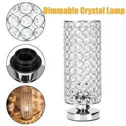 12x12x29CM nowoczesna kryształowa lampa biurkowa lampka nocna lampka nocna E27 uchwyt dekoracja do domu do sypialni regulowane oświetlenie wewnętrzne