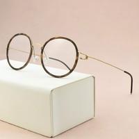 Brand titanium glasses frame men round eyeglasses frame women optical glasses frame myopia computer spectacle frames Nerd glasse
