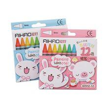 Креативные Мультяшные нетоксичные карандаши масляные краски, кисть детские Студенческие пастельные карандаши для рисования(случайный цвет упаковки