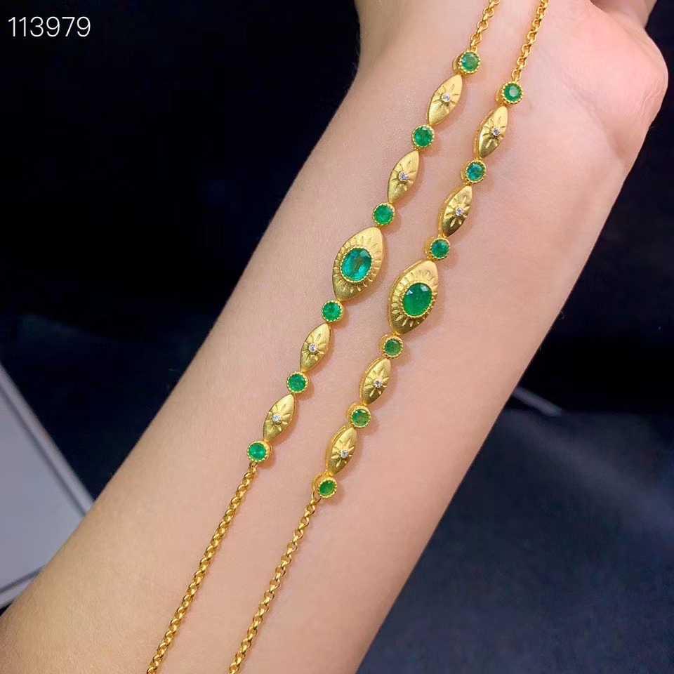 Véritable Saphir Gemme Couleur naturelle ARGENT 925 Réglable Bracelet USA Vendeur
