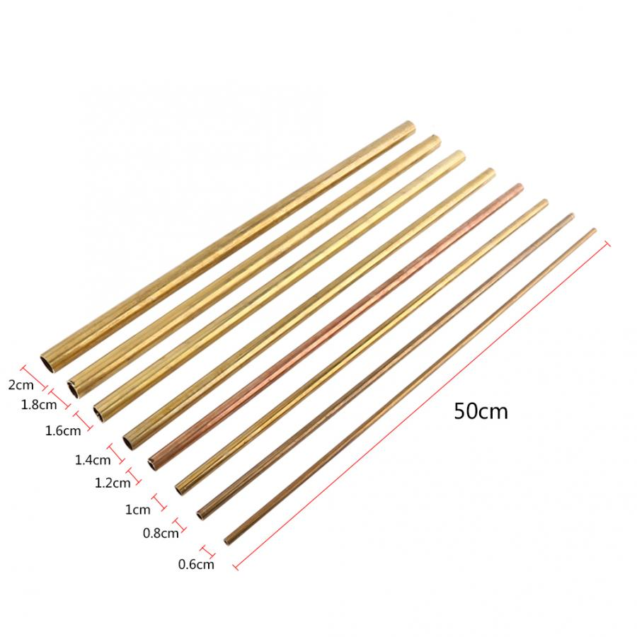 Image 4 - 6/8/10/12/14/16/18/20mm Brass Tube Woodworking Tool Parts 50cm Round Copper Pipe OD Model Making Hardware Accessories Connector-in Tool Parts from Tools