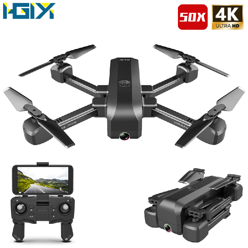 HGIYI SG706 RC Drone 4K HD Dual Camera 50X Times Zoom WIFI FPV Foldable Quadcopter Helicopter Professional Drones Stable Height title=