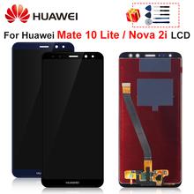Dla Huawei Mate 10 Lite LCD RNE-L01 RNE-L02 RNE-L03 RNE-L21 wyświetlacz dotykowy Digitizer wymiana części montażowej dla Nova 2i tanie tanio NONE CN (pochodzenie) Ekran pojemnościowy 3 For Huawei Mate 10 Lite LCD LCD i ekran dotykowy Digitizer 1920*1080 Test multiple times before sending