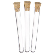 50Pcs Laboratory Plastic Test Tube 15Ml with Cork 15X150Mm Laboratory School Education Supplies(China)