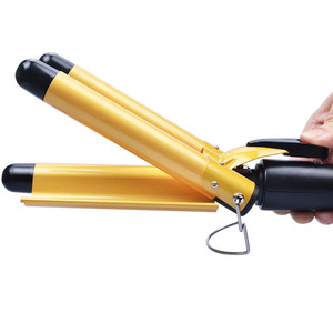 Image 4 - 20/22/25/28/32mm Hair Curling Iron Ceramic Triple Barrel Hair Curler Irons Hair Wave Waver Hair Styler Wand Styling Tools