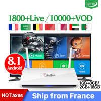 Leadcool France IPTV Box Android 8.1 IP TV 1 an QHDTV Code abonnement IPTV espagne Italia néerlandais belgique français arabe IPTV